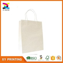 Free Print Logo White Medium Size Paper Gift Bag
