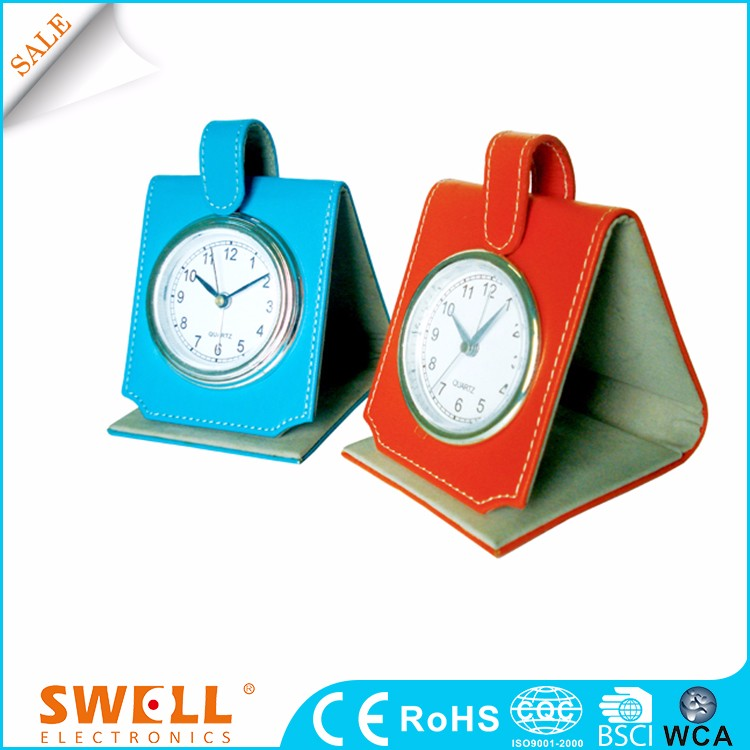 Wholesale Iso Leather Ce Travel Alarm Clock