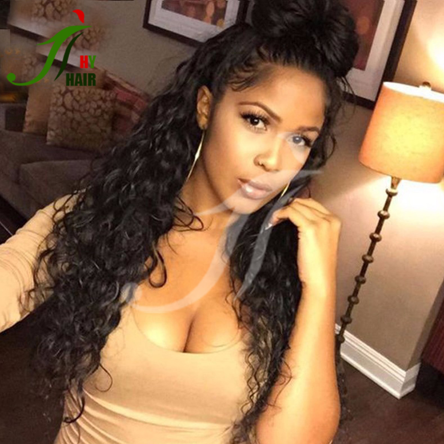 26inch Long Curl Brazilian Virign Human Hair Glueless Lace Front Wig for South Africa Kinky Curly Full Lace Wig