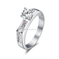 Western Stainless Steel Wedding Ring Sets with Diamond