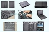 Bluetooth keyboard leather case for ipad 2/ PU leather case with bluetooth keyboard for ipad 2