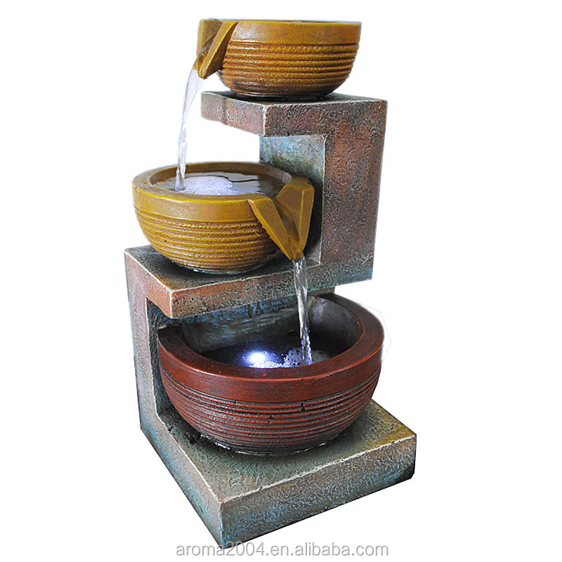 Sample best selling home decoration polyresin water fountain indoor tabletop