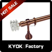 KYOK copper decorative metal curtain rod finials