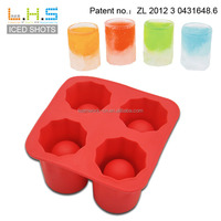 100% food grade shot glass made completely out of ice plastic ice cube tray with lid