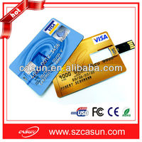 hot sell 4GB credit card usb flash drive real capacity false 1 compensate 10