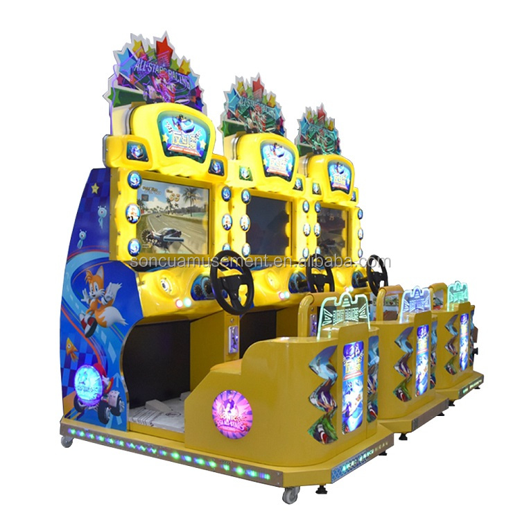 Arcade street game children's cockpit Sonic racing game console