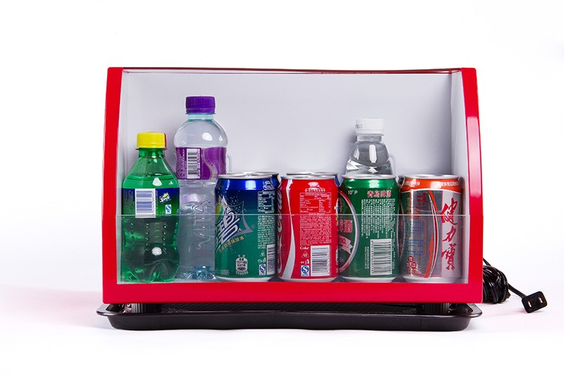 12L display mini fridge with crystal glass material
