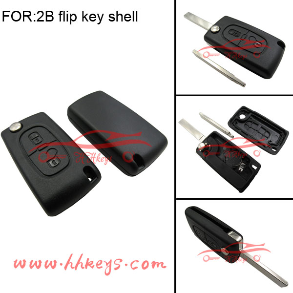 2 Button Car Key Remote covers of Car Key for Peugeot 508 Remote Key no chip