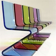 Hot Selling New Modern Luxury PW-264 Custom Zigzag Clear Acrylic Lucite Z type Chair