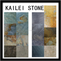 All color square Natural Slate floor tile