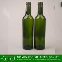 750ml colored glass red wine bottle