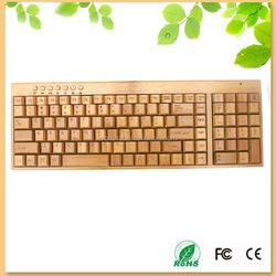 Fashion design 201 bamboo wood wireless keyboard with Danish style