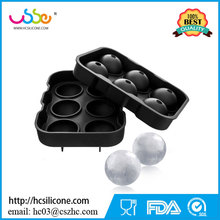 USSE Silicone Ice Sphere Tray - Round Ice Cube Mold - Ice Ball Silicone Mold