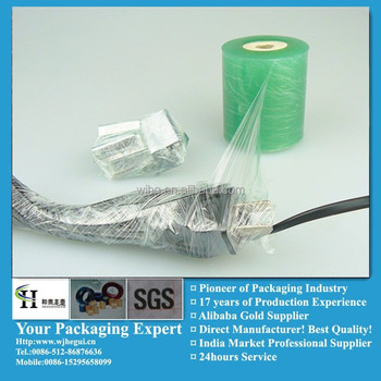 pvc cable wrapper film blue asia
