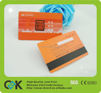 China Supplier High quanlity magnetic stripe card with plastic card printing