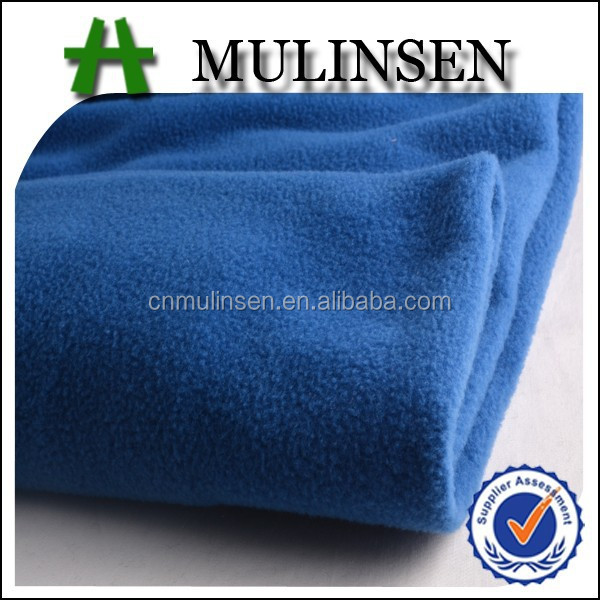 Mulinsen Textile Solid Color Thick Quality Knit Double Sides Brush 100% Polyester Polar Fleece Fabric