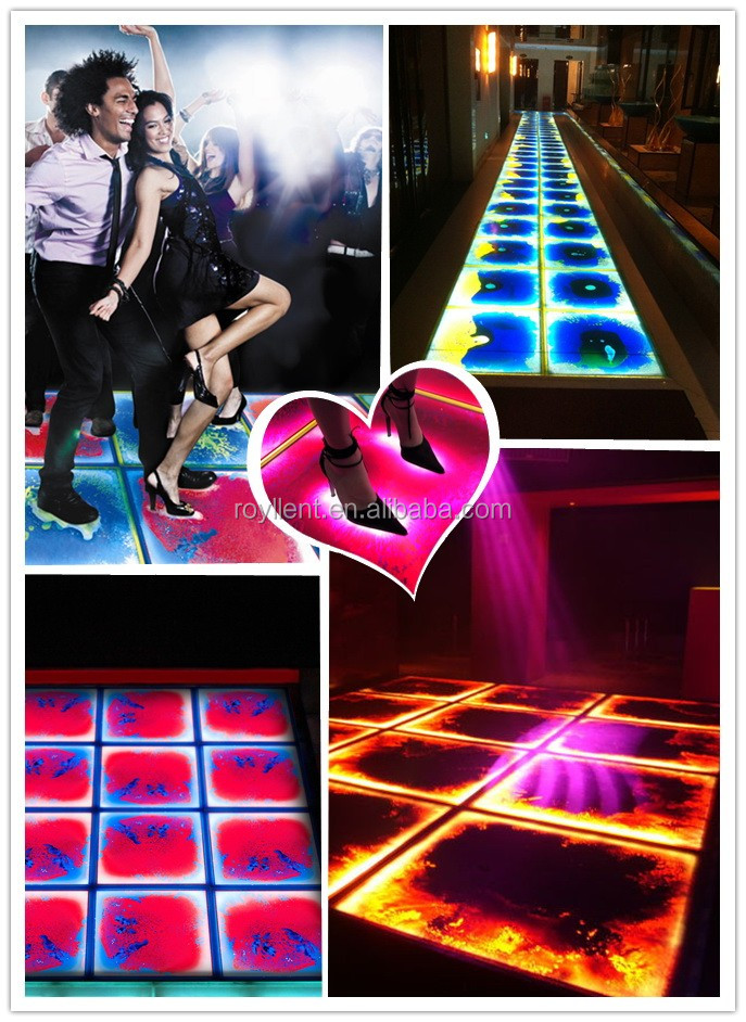 3D T show sensitive liquid floor tiles liquid plastic floor coating