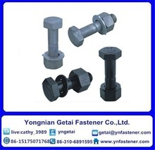 DIN 7990 M22 Galvanized Heavy Hex Structural Bolts with Nuts