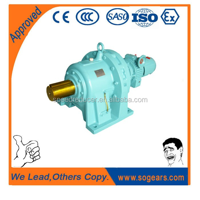 cycloidal pin wheel reducer with electric motor