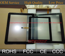 7 9 10 10.1 10.4 12.1 13.3 14.1 15 15.6 17 18.5 19 21.5 22 inch Flat 4 wire resistive touch screen panel with black frame