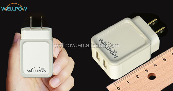 Factory supply 3.4A USB wall charger with US plug