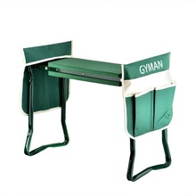 USA STOCK Garden Kneeler Seat, Sturdy and Lightweight Garden Folding Bench Stool with EVA Kneeling Pad and Tool Pouch