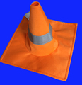 Unisex adult traffic road cone hat