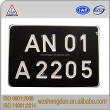 custom embossed car number plate for car and motorcycle