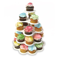 5 Tiered Cupcake Holder Stand Tower White Holds 27 Cupcakes