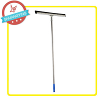 SY 3002 Stainless Steel stick sponge glass and floor wiper with 1.30M Metal Handle