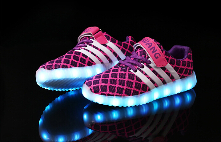 Light Led Kid Shoes,Size 26-37 Led Flashing Kid Shoes,Rechargeable Led Flashing Shoes For Kids