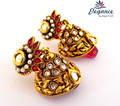 South traditional jhumka earrings-antique earrings-wholesale Gold plated earrings-Online Bollywood fashion gold plated earrings