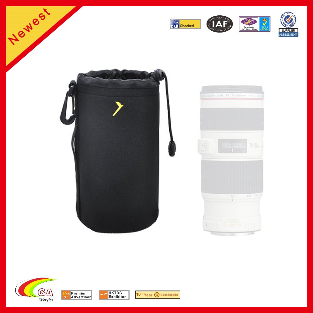 Top Quality Waterproof Thick Protective Drawstring Soft Neoprene Lens Pouch