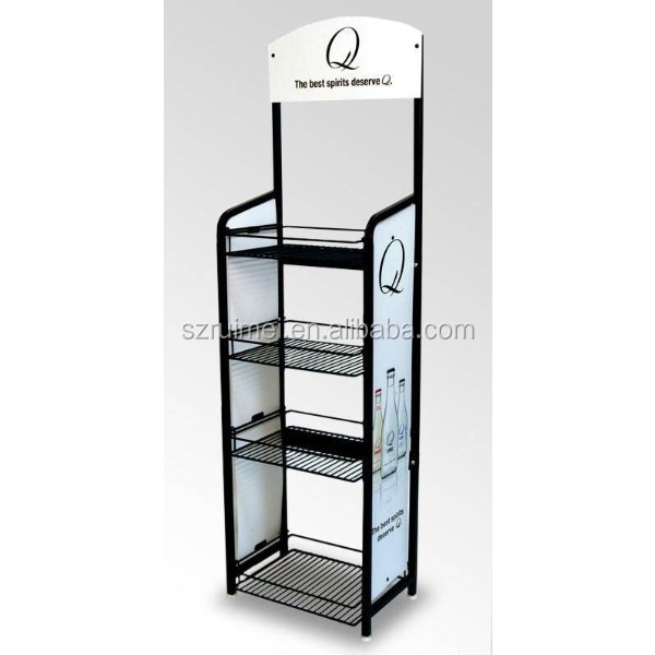 metal display rack for beverages drinks stand soft drink display rack