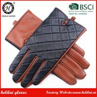 Black aand Camel Driving Leather Gloves Mens Winter Classical Men's Leather Gloves as Christmas Gift