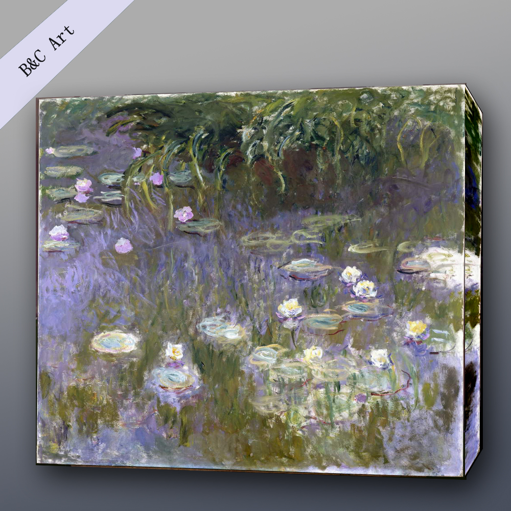 Impressionist Reproductions Water Lilies Claude Oscar Monet Famous Art Paintings with frames