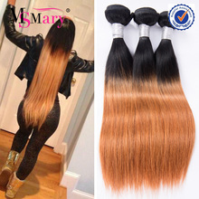 Wholesale Silky Straight Ombre Two Tone Peruvian Human Hair Weave Color 1b 30
