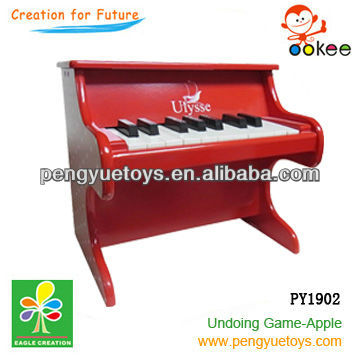 Red color kids wooden mini musical piano for 2013