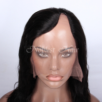 Hot selling wholesale top quality natural wave lace wig various designs Virgin Brazilian human hair lady U part lace front wig