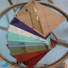 Cheap price 2mm 3mm 4mm 5mm 6mm color tinted mirror glass