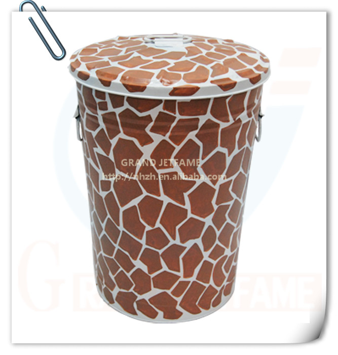 household metal stronger galvanized ash bin with lid