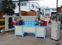 Double Shaft Shredder for Use Plastic and Rubber block