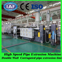 plastic machine manufacturer specially produce corrugated pipe production line