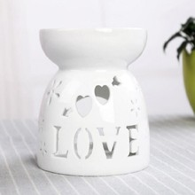 unique decoration empty oil burner small decorative ceramic fragrance lamp