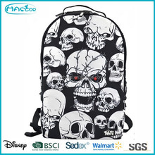 Custom printing skull school bag for students