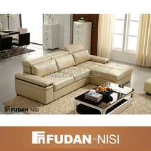 african wood furniture living room cheers leather sofa FM175