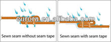 PU HOT AIR Seam SEALING Tape for waterproof raincoat,jacket,skiwear,tent,shoes