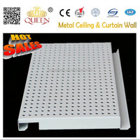 Perforated acoustic mental ceiling board & fire proof hanging ceiling system