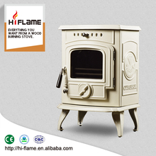 Cheap cast iron wood burning stove with enamel for sale HF332E Ivory