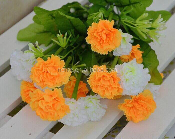 40cm 11 Stems Promotional Silk Carnation Artificial Flower